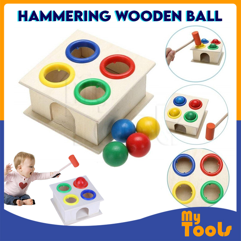 Mytools Hammering Educational Toy Children Kids Wooden Hammer Balls Early Learning Game