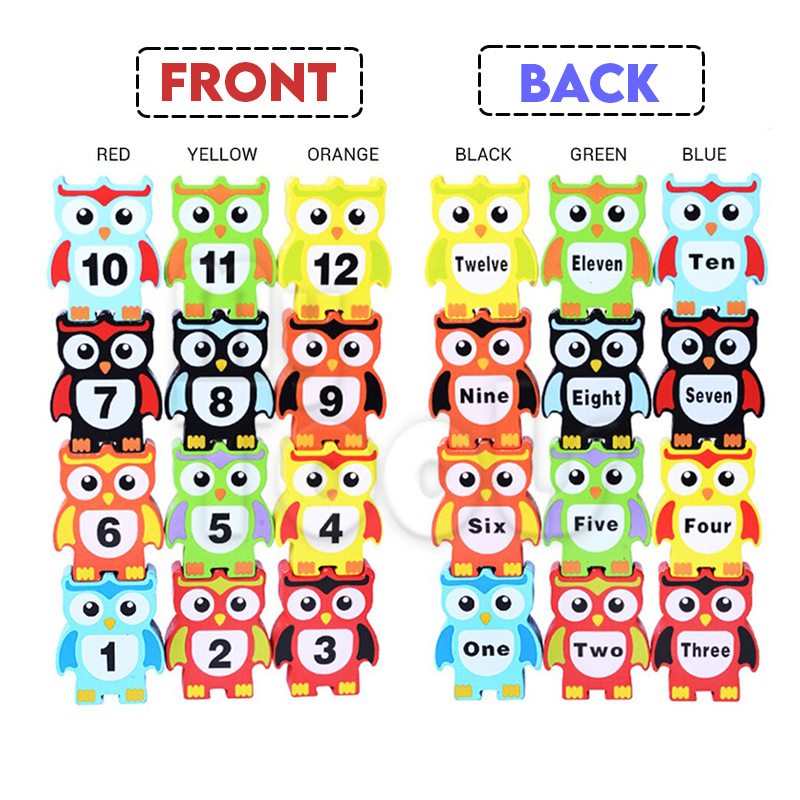 Mytools Wooden Owl Number Block Toy Owl balancing blocks Kids Toy Kids Learning Toy Kids Development Toy