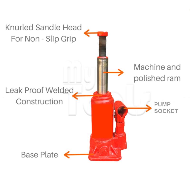 10 Ton Heavy Duty Hydraulic Bottle Jack