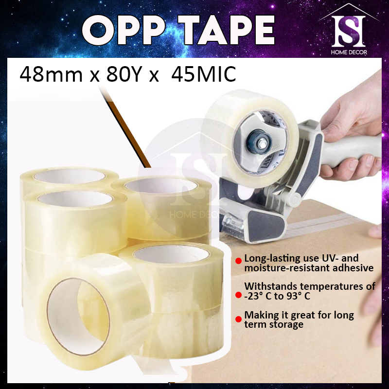 Mytools OPP TapeHigh Quality Clear Transparent Packaging Tape (48mm x 80Y x 45MIC)