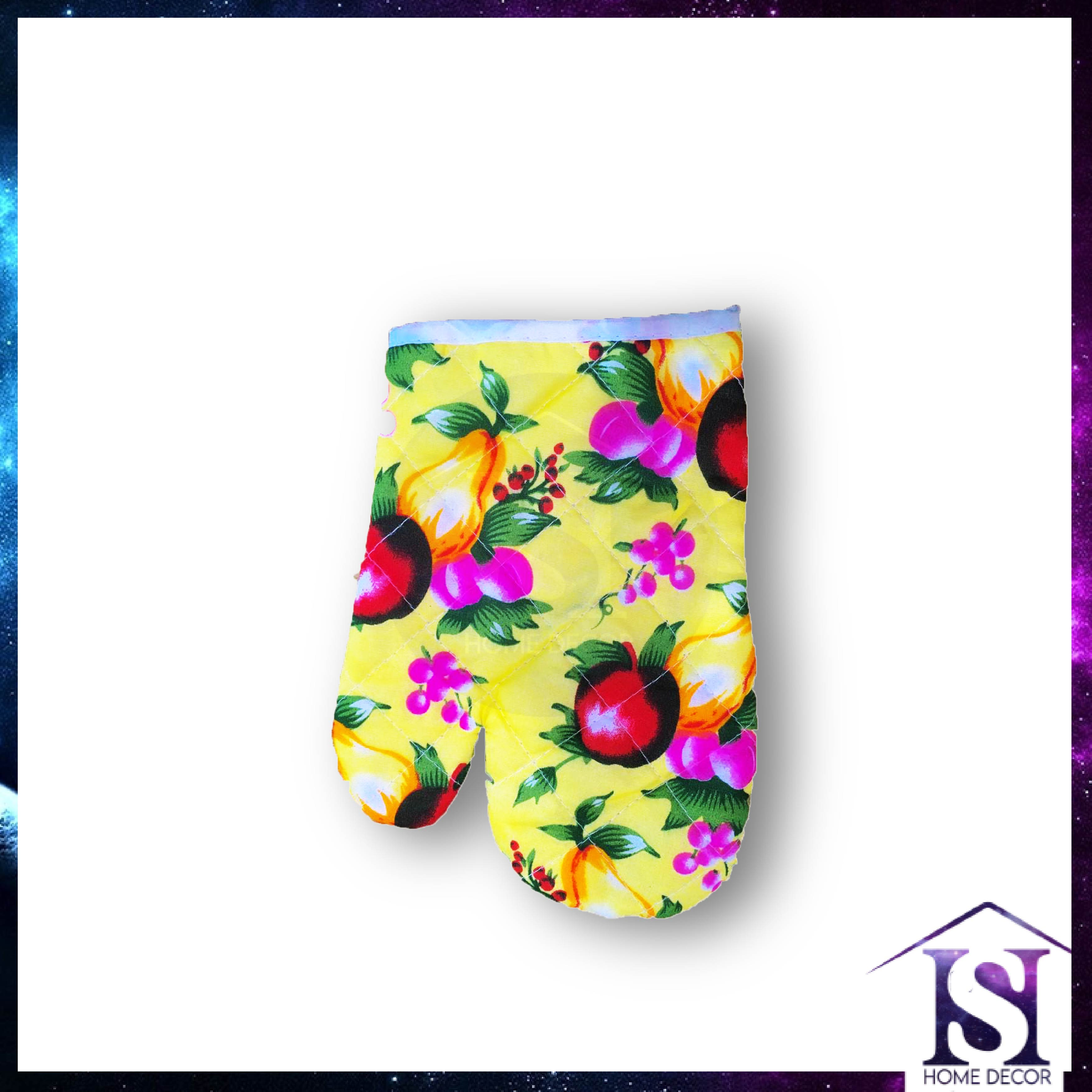 (RANDOM) Oven Glove Heatproof Microwave Oven Multipurpose High Temperature Anti Scalding Microwave Oven Glove Thickened Gloves