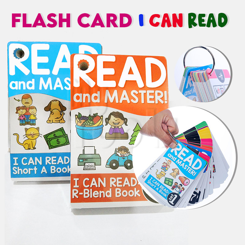 Mytools Flash Card I Can Read Learning English Phonics Cards Memory Game Montessori Educational Toy For Kids Flash Cards Teaching Aids