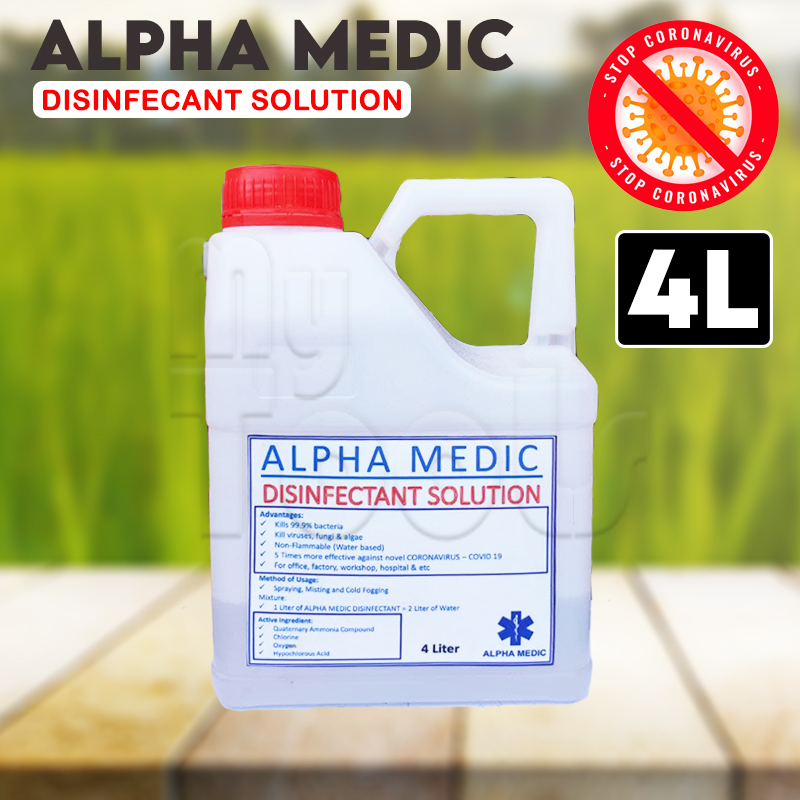4L Alpha Sanitizer Disinfectant Water-based Cleaner 5L (Ready To Use)