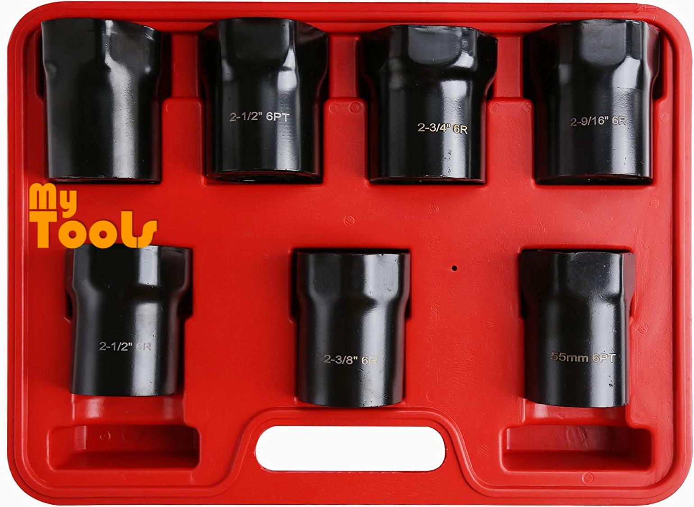 Mytools 7 PCS Wheel Bearing Locknut Socket Set