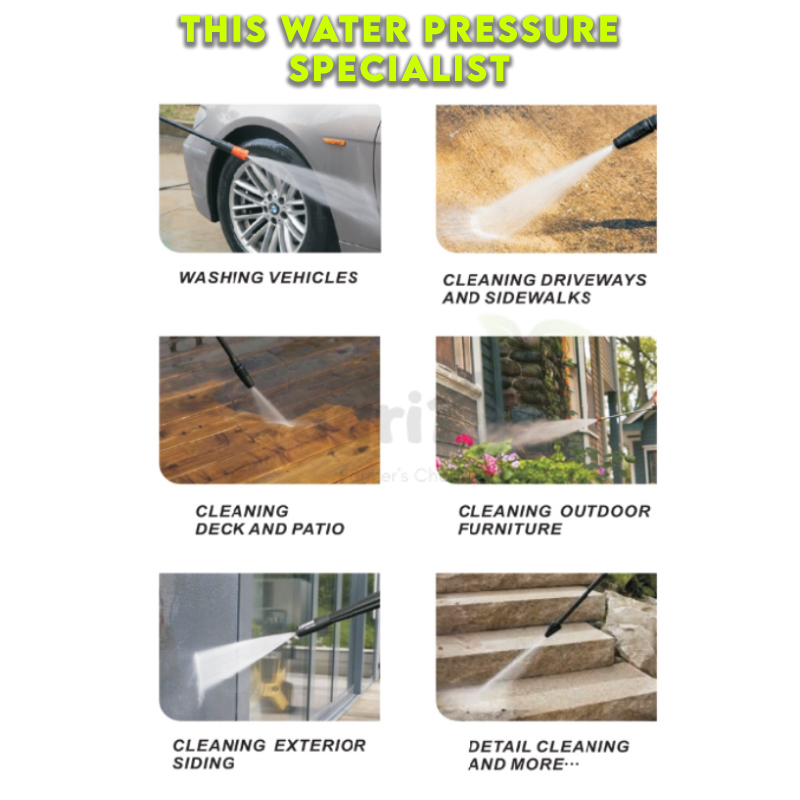 (Ready Stock) Mytools High Pressure Washer Cleaner, Induction Motor 1300w 120Bar / Jet Pencuci