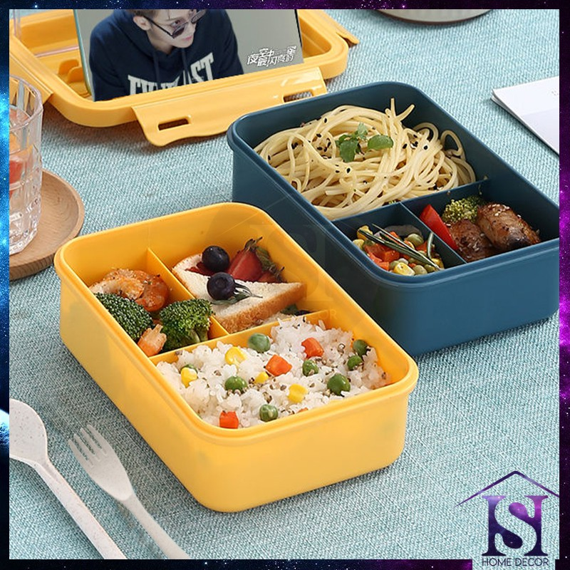 Mytools LUNCH BOX TUPPERWARE Japanese Lunch Box Portable with Spoon Forks Lunch Box (RANDOM)