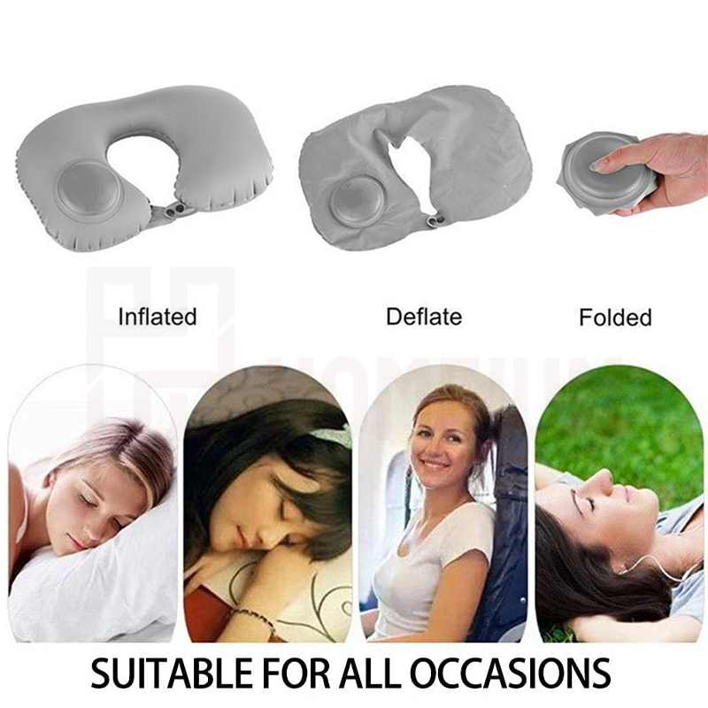 Neck Air Pillow U Shaped Soft Head Rest Portable Inflatable Foldable Traveler
