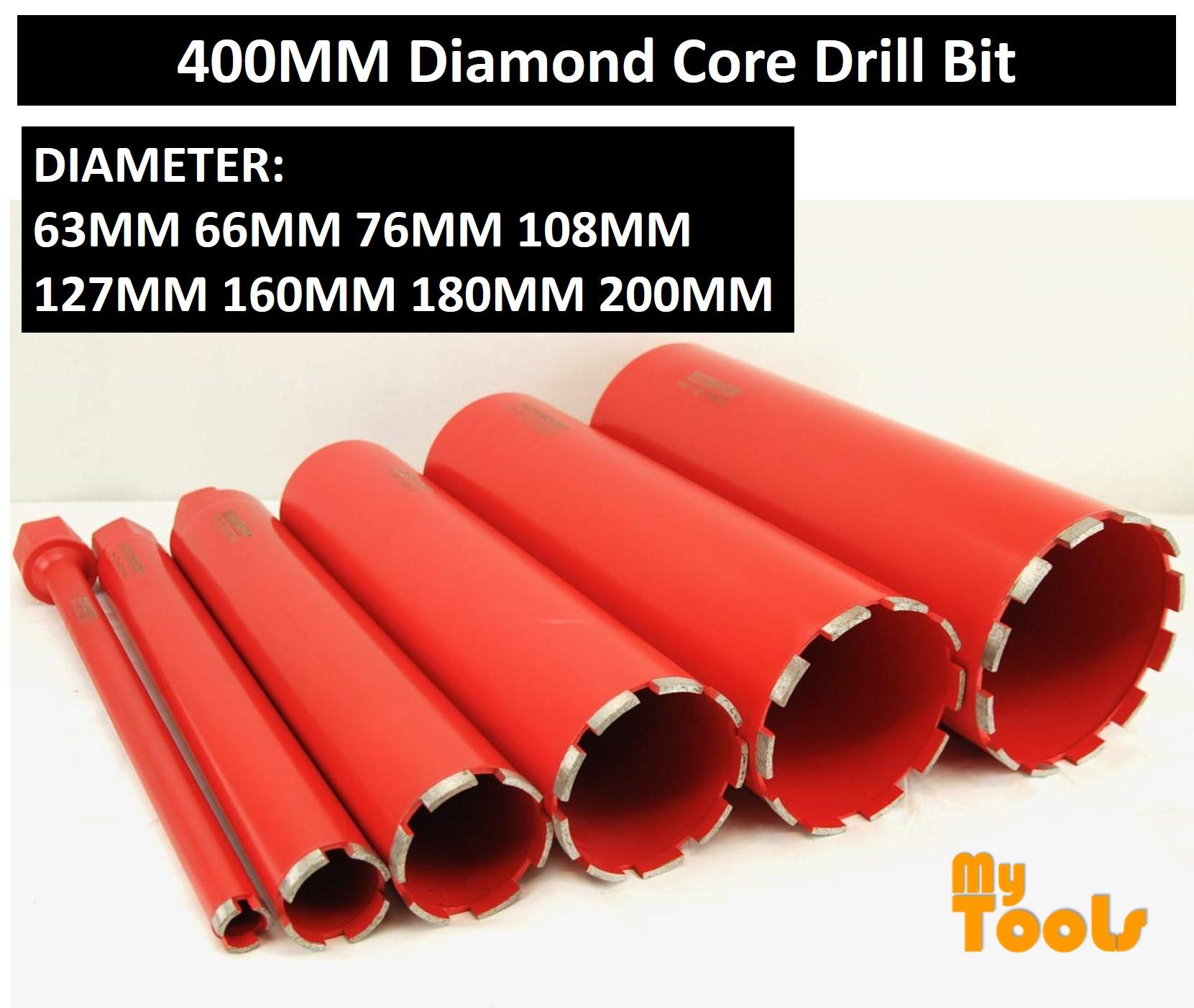 63MM 66MM 76MM 108MM 127MM 160MM 180MM 200MM x 400MM Diamond Core Drill Bit / Diamond Coring Drilling Bit For Concrete / Masonry / Brick / Stone / Rock