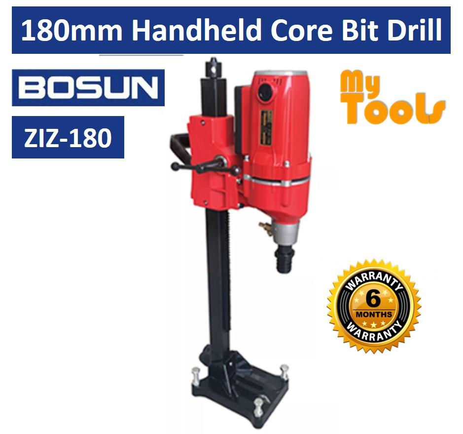 BOSUN ZIZ-180 180mm Handheld Core Bit Drill Drilling Machine - 6 Months Warranty