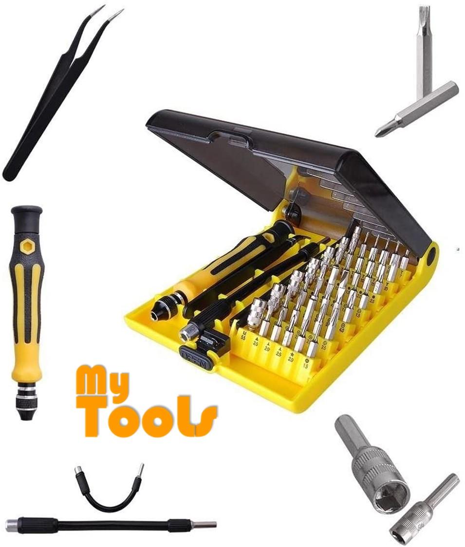 45 in 1 45PCS Precision Torx Tools Kit Driver Tweezers Set Magnetic Screwdriver Portable Screw Driver Repair