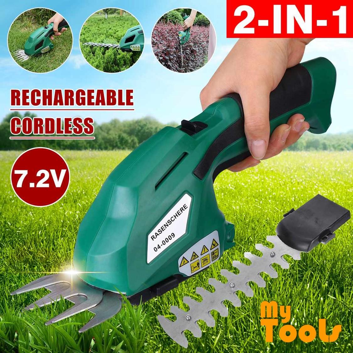 Mytools 2 in 1 7.2V Lithium Cordless Grass & Shrub Hedge Trimmer Shear