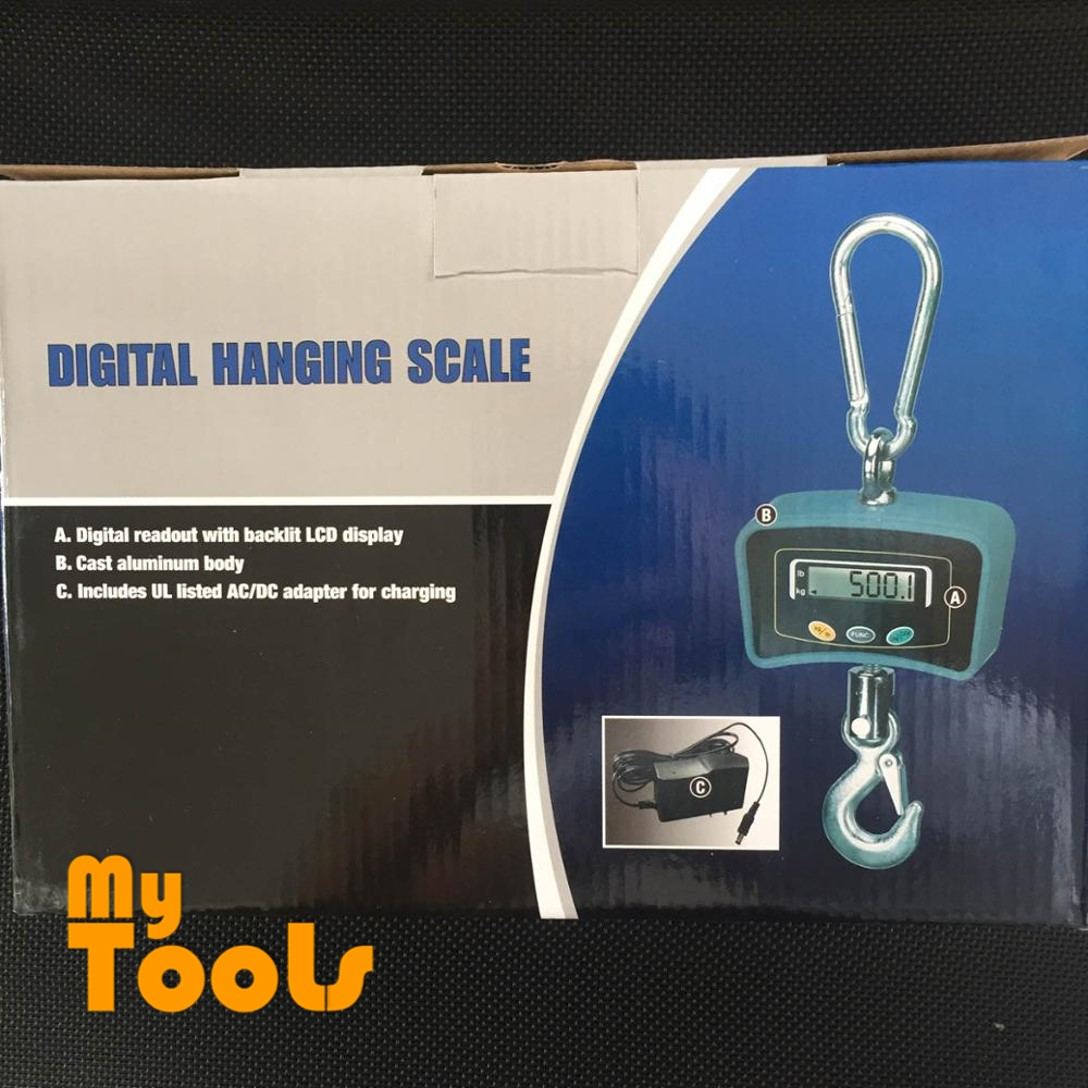 Mytools 300kg 500kg Heavy Duty Digital Crane Hanging Scale Electronic Weighing Scale Weight