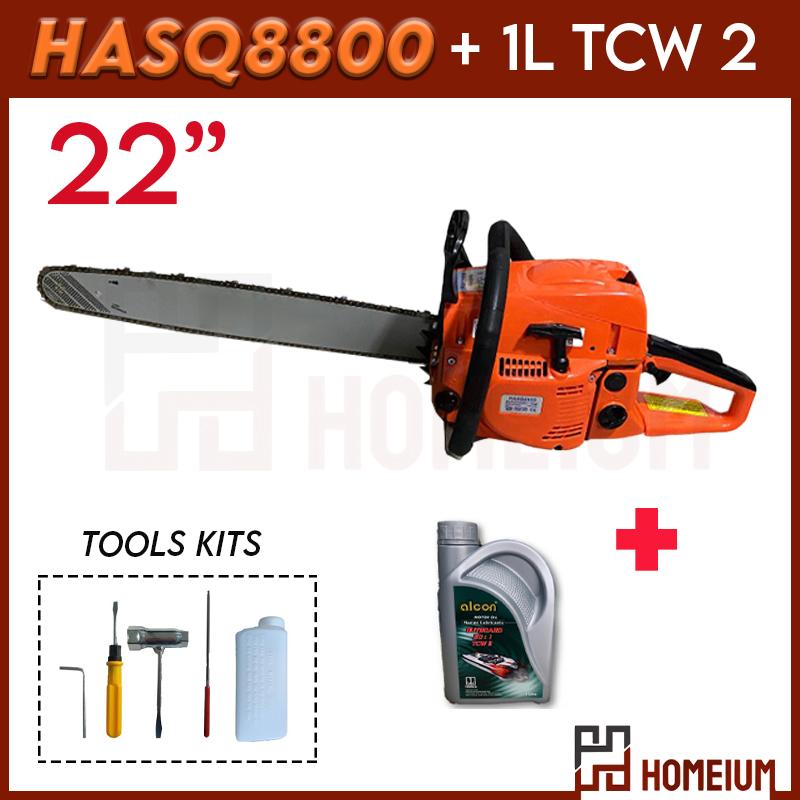 STHLL 461 Or HASQ8800 22 Gasoline / Petrol Chainsaw Gergaji Potong Kayu Heavy Duty