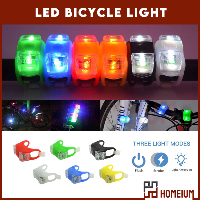 Bicycle light LED Cycling light bike Frog Strobe Tail Rear bike Waterproof Taillight Bicycle Safety Warning taillight (RANDOM)