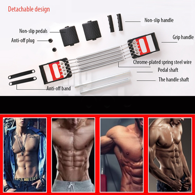 Mytools Chest Muscle Expander With Hand Gripper And Pedal Pull 5 SPRING Body Building CHEST EXPANDER GYM