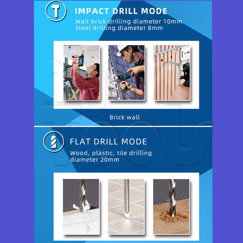 BOSCH GSB10RE Professional Impact Drill C/W 100pcs Accessories Set