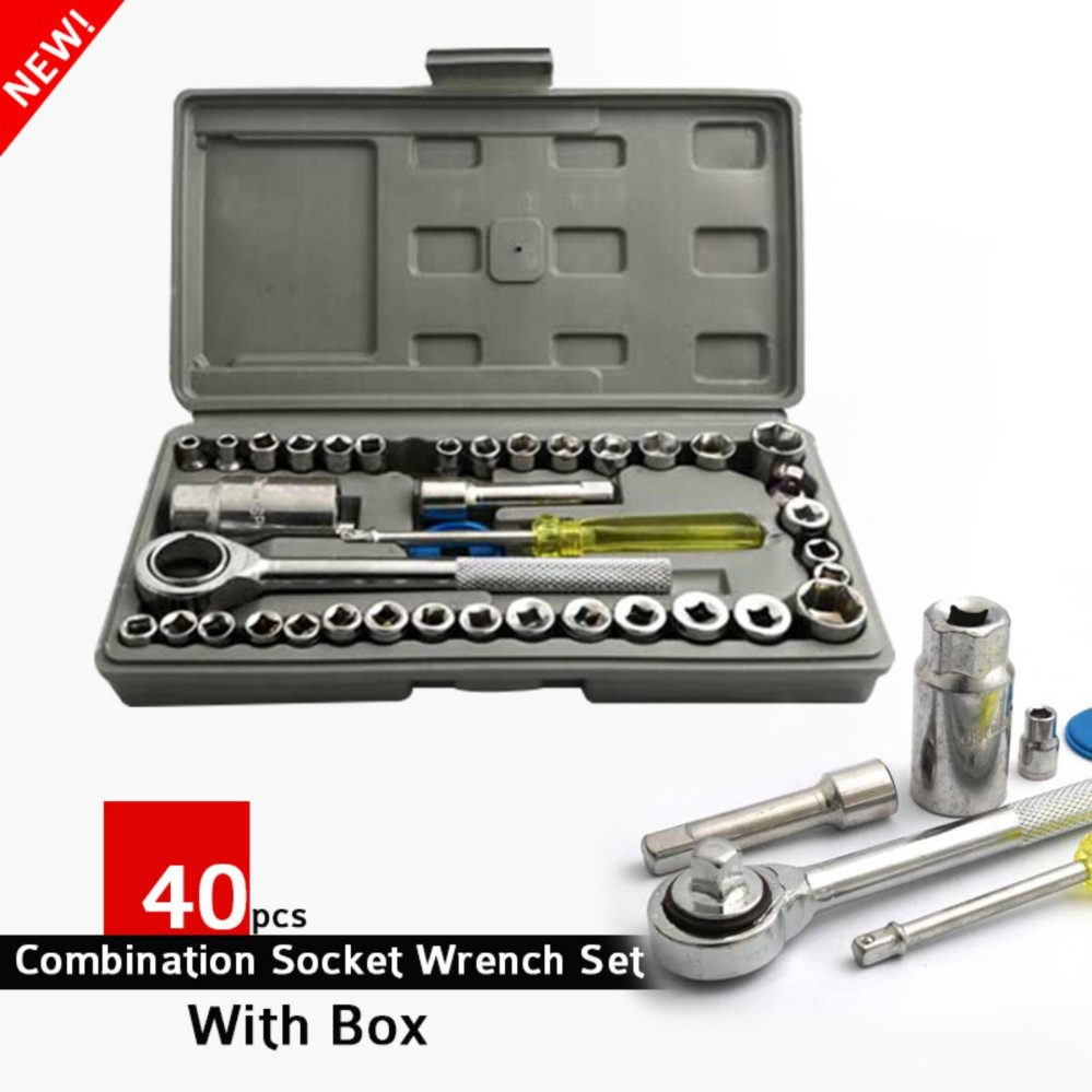 DIY 40pcs Combination Socket Wrench Set