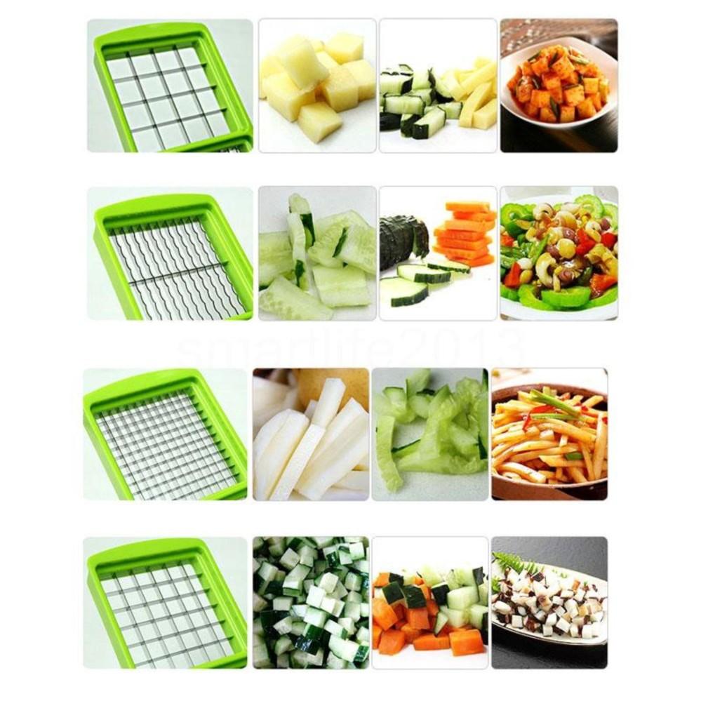 Easy to use 12pcs Practical Vegetable Fruit Stainless Steel Chopper Nicer Cutter Slicer Set