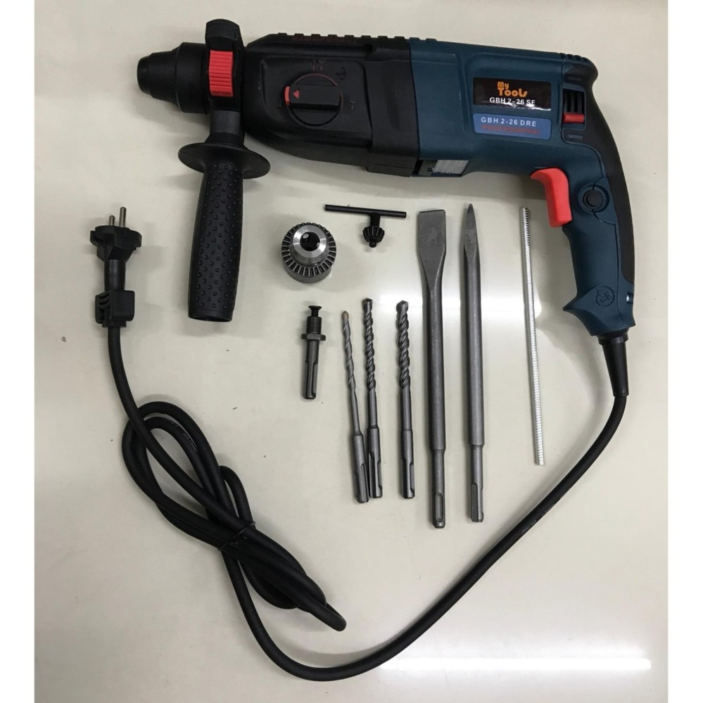 Mytools GBH 2-26 SE 26mm 800w 3-mode Powerful Rotary Hammer Drill With Free Accessories