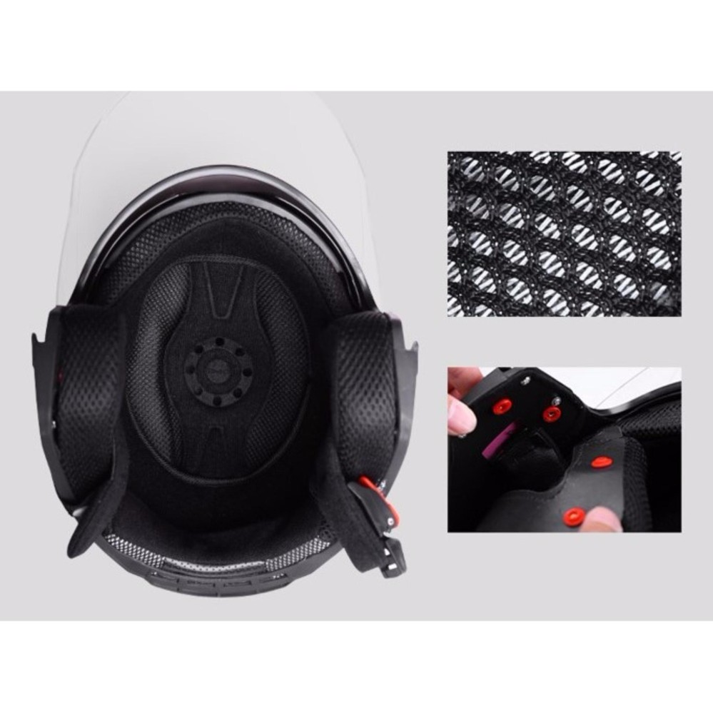 DFG Double Visor Helmet   (Matt Black)