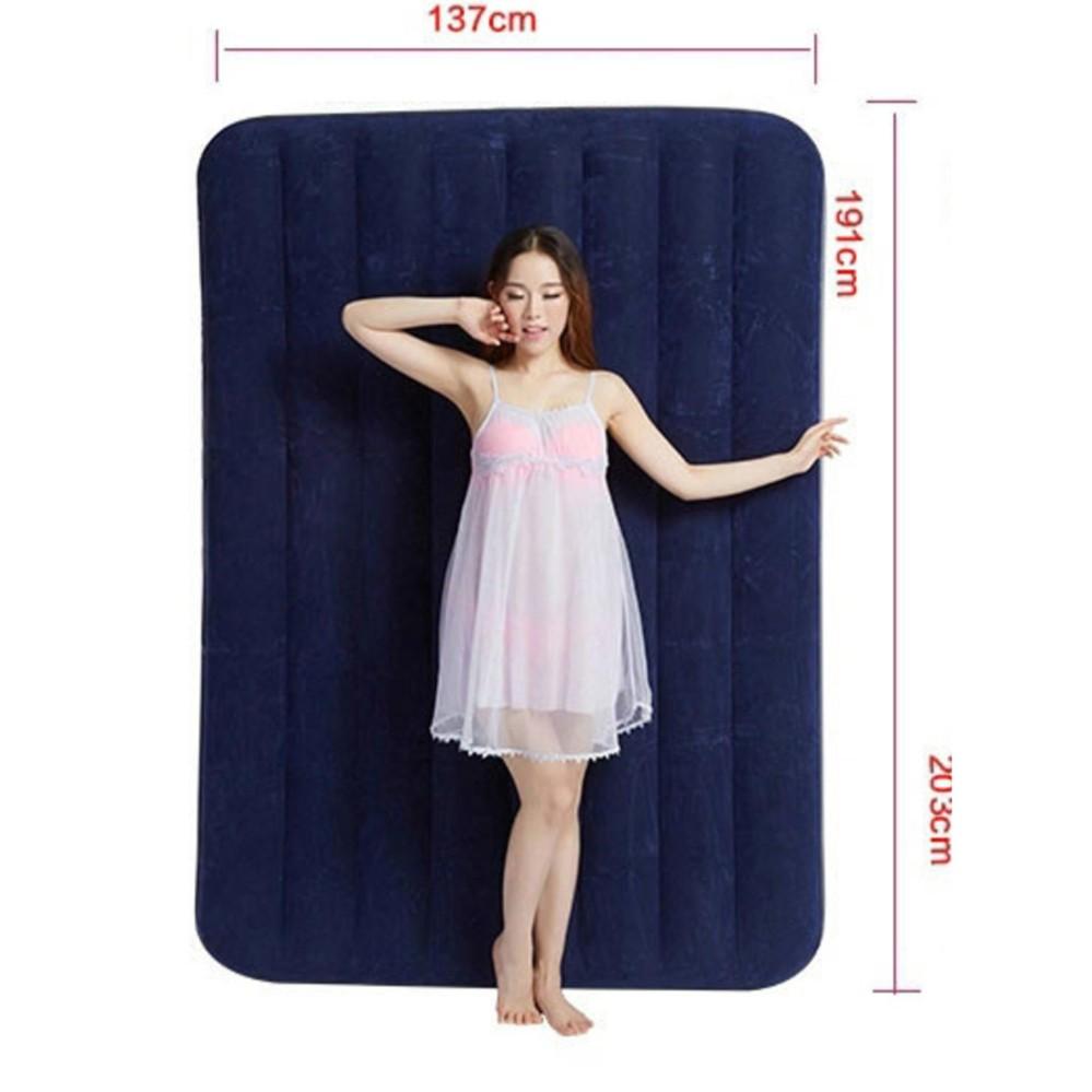 Intex Inflatable Flocked Air Bed Mattress - Queen (137*191*22)