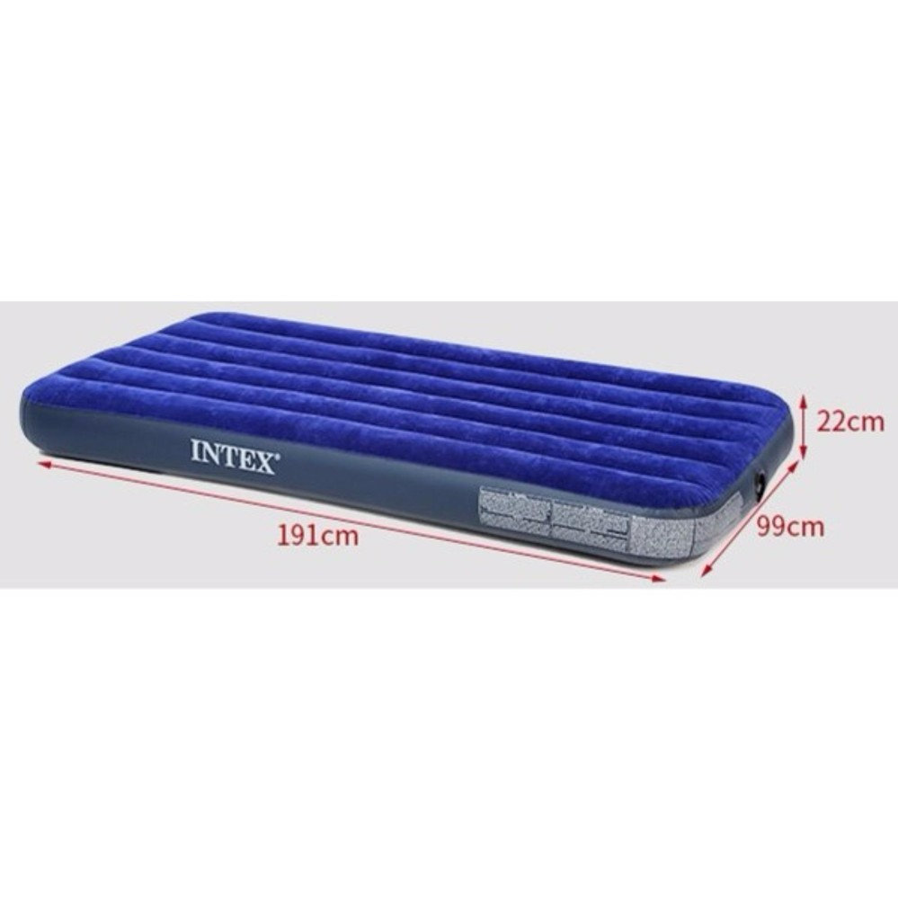 Intex Inflatable Flocked Air Bed Mattress Twin (99*191*22)