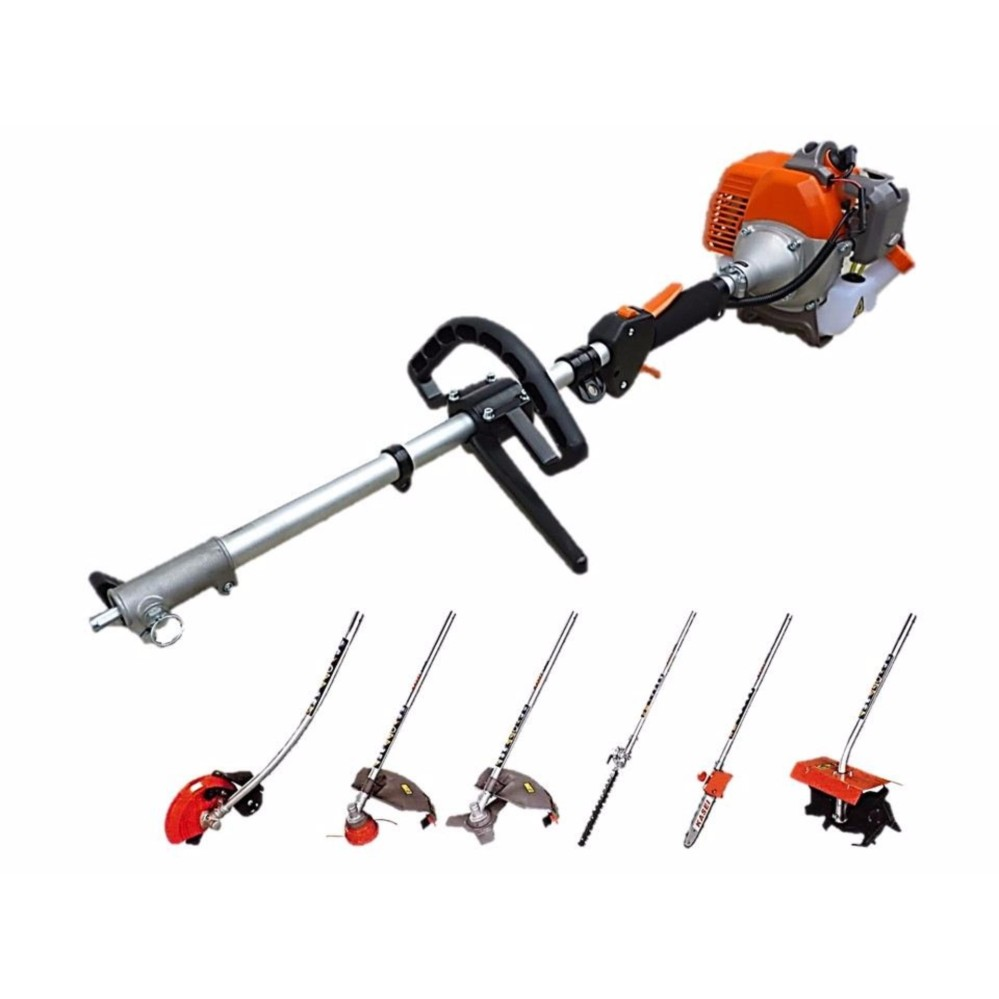 Kasei QJD330 Agriculture 6 In 1 Brush Cutter Tiller Trimmer Chain Saw Multi Tools Set
