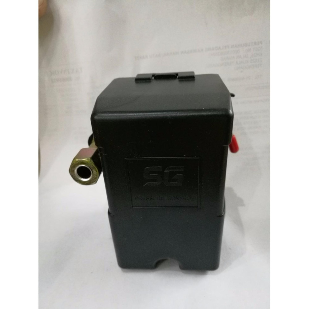 Air Compressor Automatic Pressure Switch 8Bar 4-Way 1/4