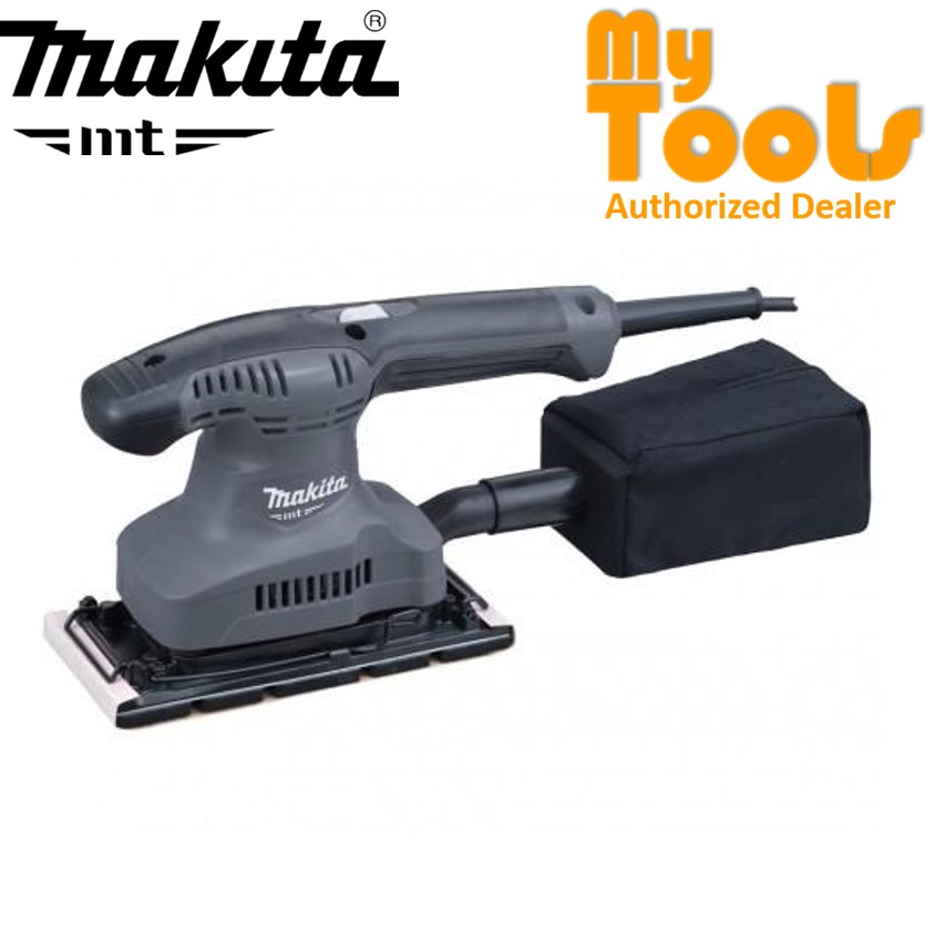 "Makita MT M9203G 190W 3-5/8"" x 9"" Finishing Orbital Sander c/w Dust Bag"