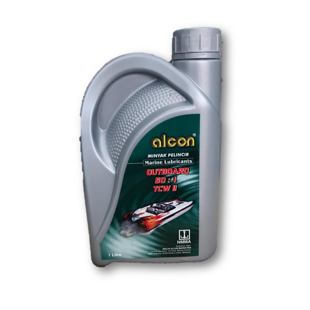 Alcon Outboard Marine Lubricants 2-Stroke 2T TCW-2 Engine Oil 1L(Made In UAE)