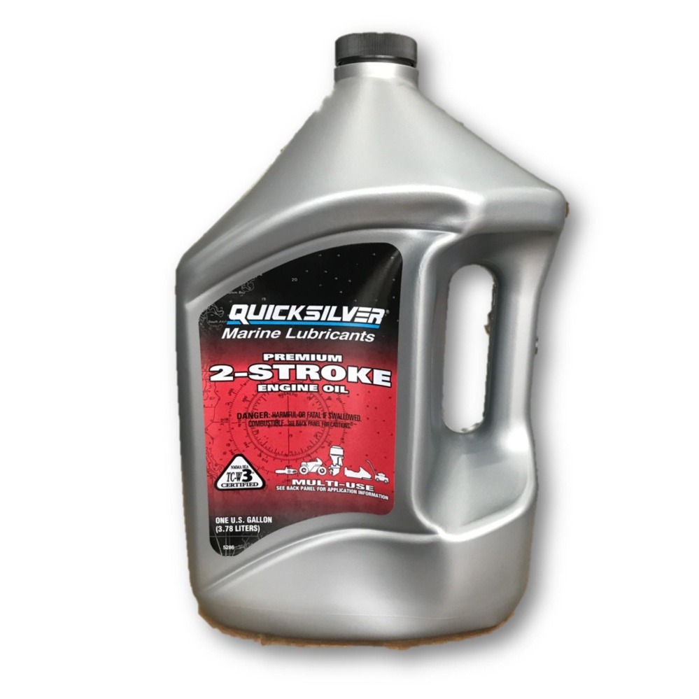 Quicksilver Outboard Marine Lubricants 2-Stroke Lubricant 2T TCW-3 Engine Oil 3.78L / Minyak 2T (Mad