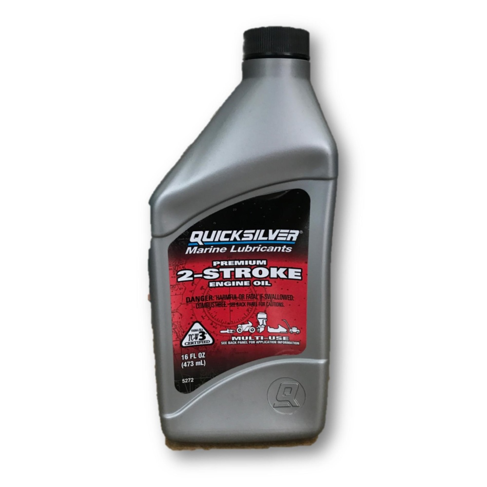 Quicksilver Outboard Marine Lubricants 2-Stroke Lubricant 2T TCW-3 Engine Oil 473mL / Minyak 2T (Mad