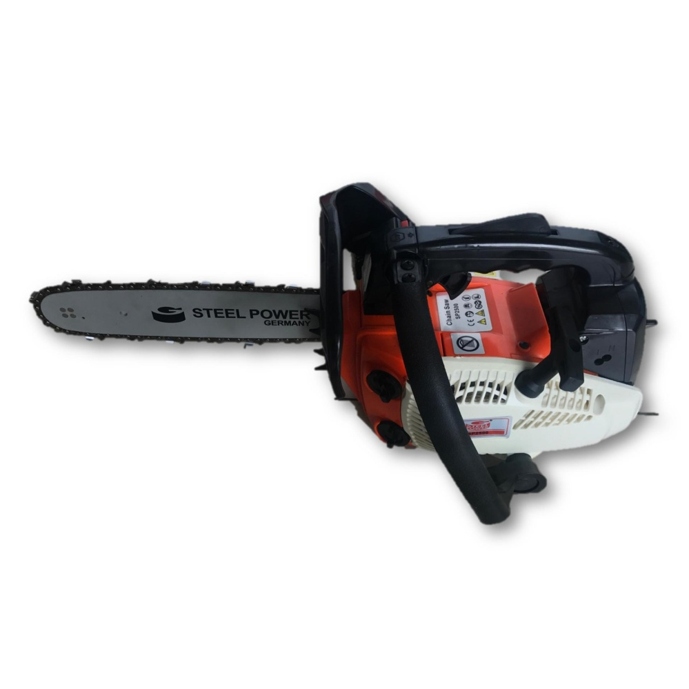 "Steel Power Professional Petrol Chain Saw 12"" 25cc (Mini Type) One Hand"
