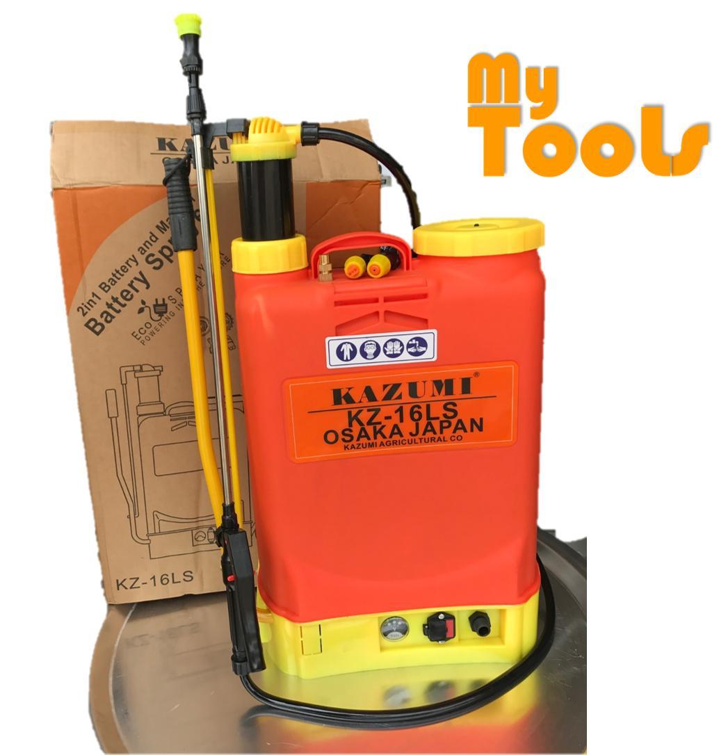 Kazumi KZ-16LS 16L 2in1 Electric Manual Agriculture Battery Knapsack Sprayer Pump