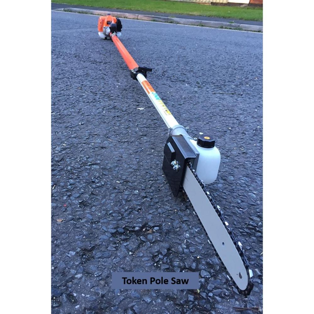 Token 26cc 4.1m Extendable Garden 2-Stroke Petrol Telescopic Pole Chainsaw