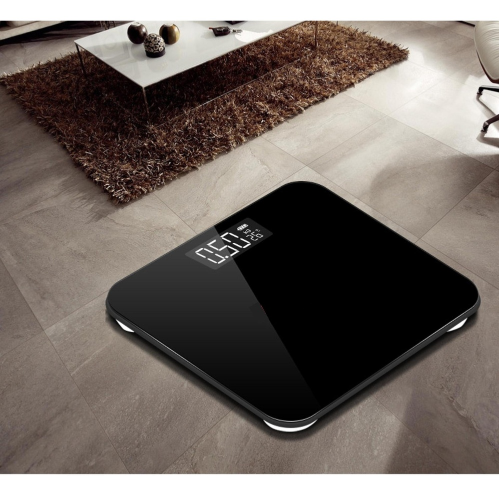 Digital Body Weight Scale Weighing Measuring Scale - Black