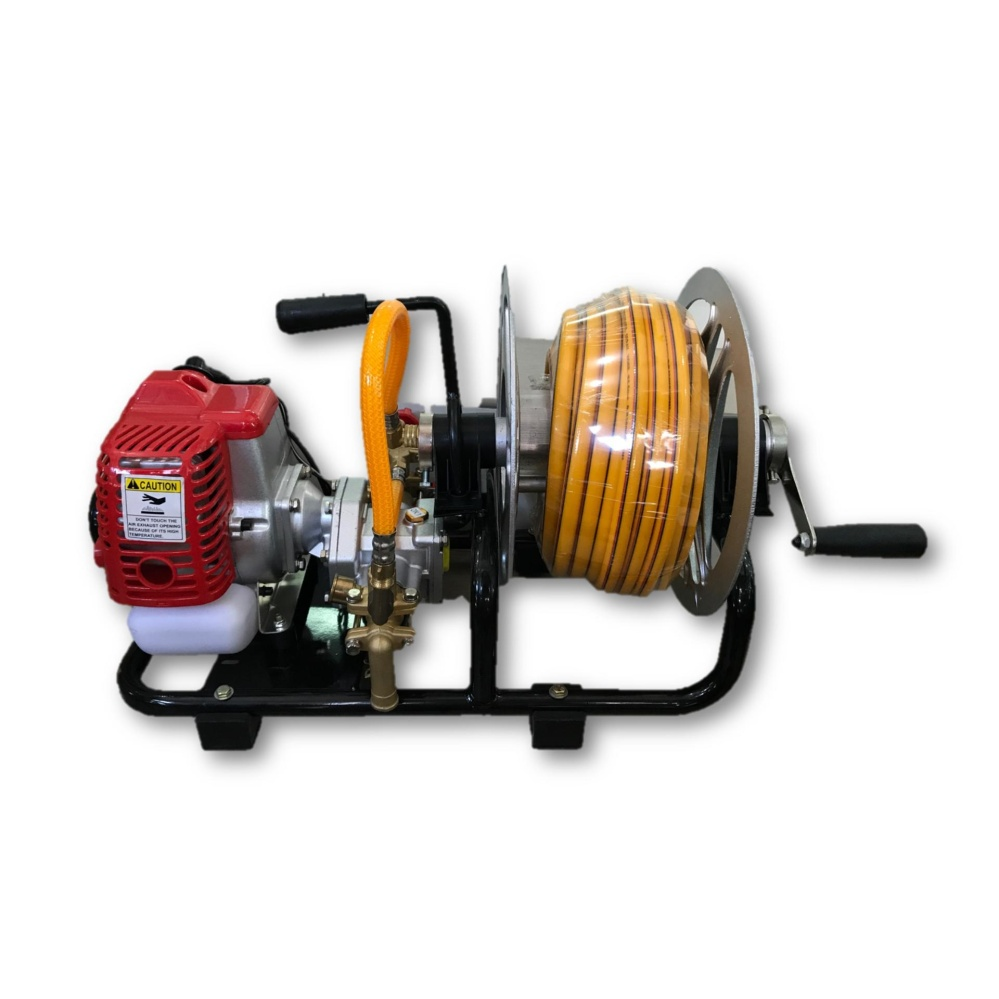 Portable Power Sprayer Pump c/w 30m Pressure Hose