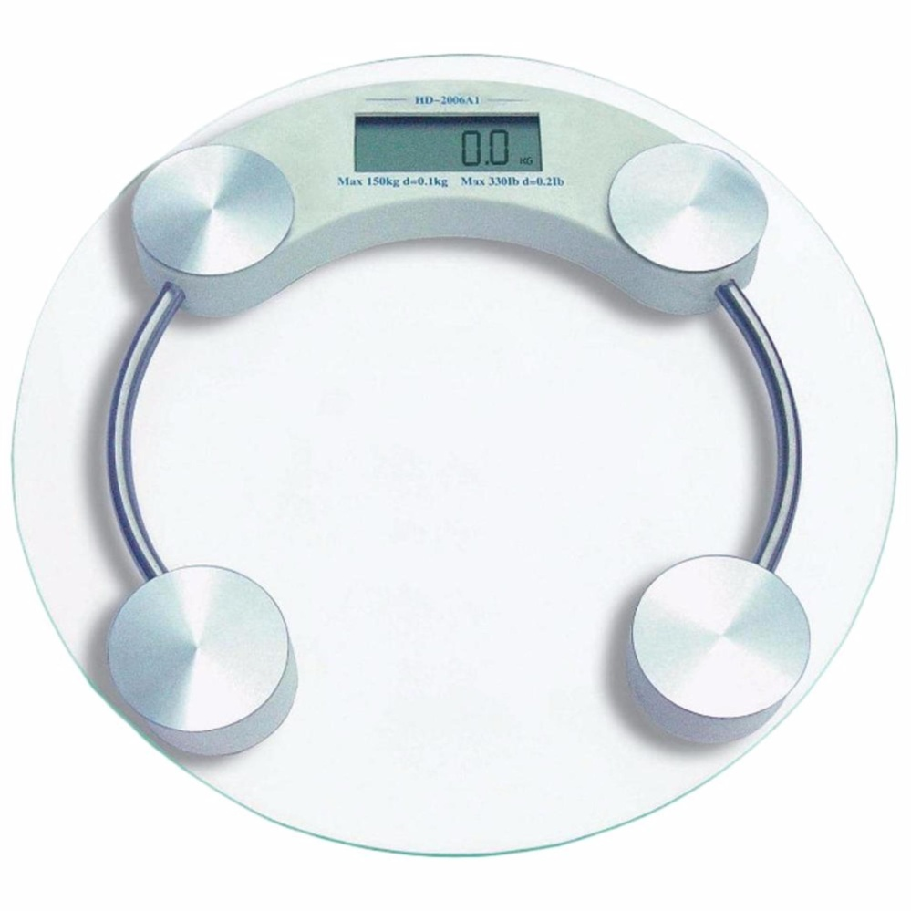 33CM Round Digital Body Scale Bathroom Scale Digital Body Weighting Machine