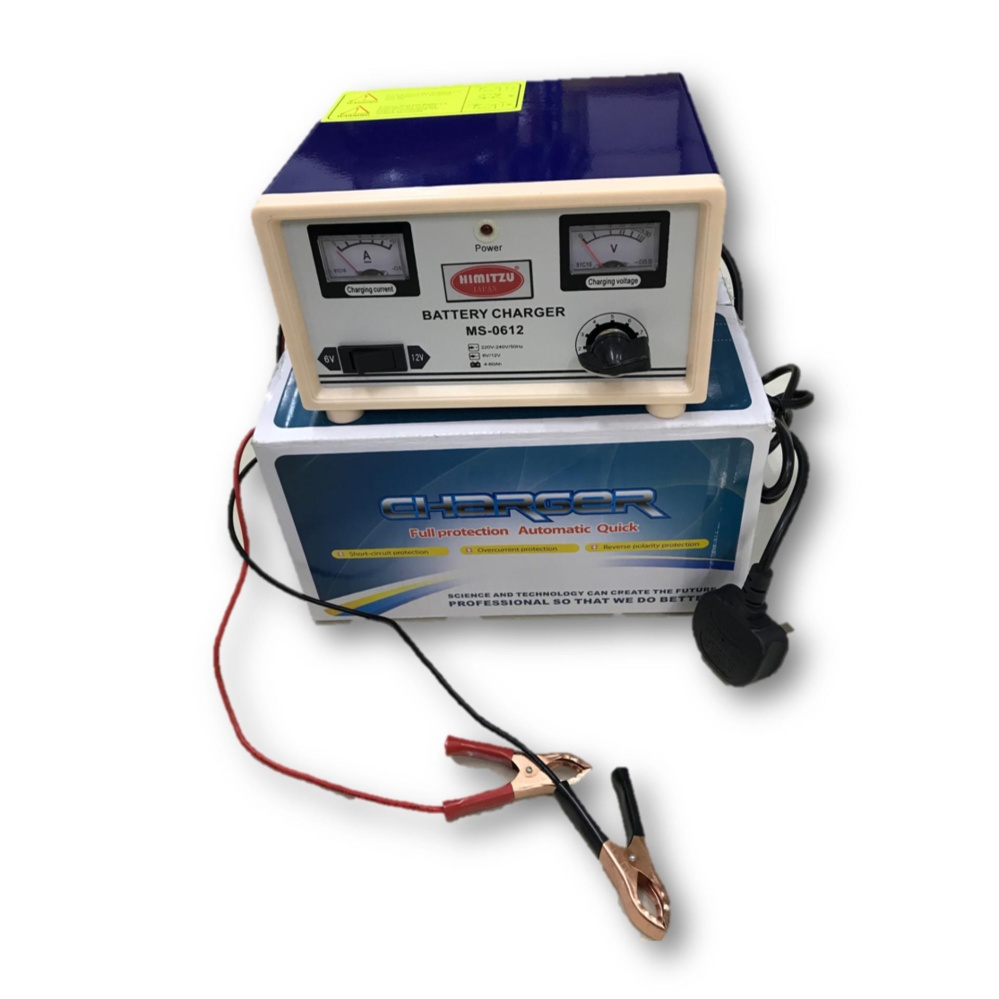 Himitzu 6V 12V 20A Lead Acid Car Battery Charger with Reverse Connection and Short Circuit Protectio