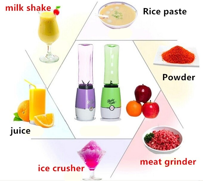 Mytools Shake N Take 3 (1bottle) On The Go Smoothie Juice & Fruit Blender High Quality with malaysia plug (Random Color)