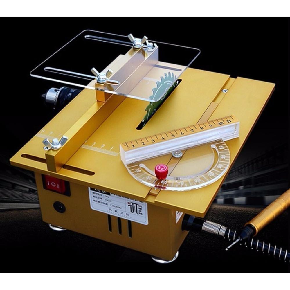 Mini Multifunction DIY Lathe Crafting Machine Polisher Table Saw Kit