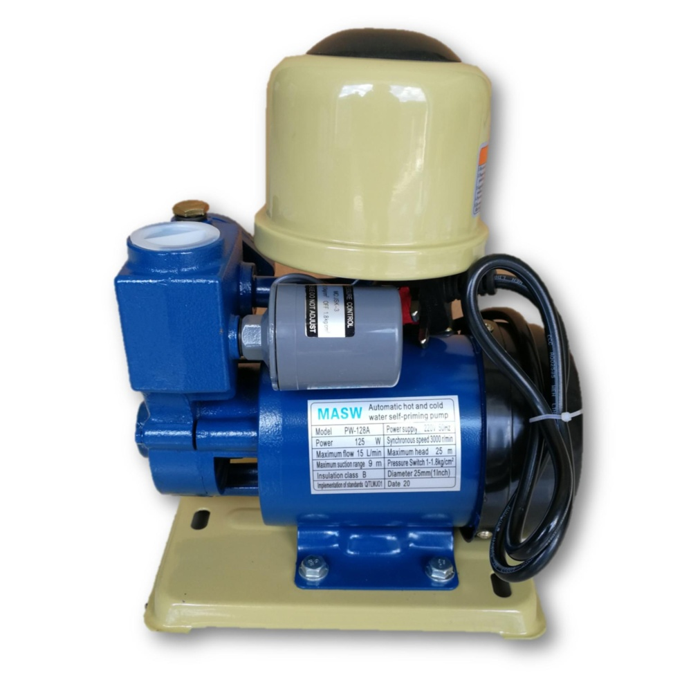 MASW PW128A 1Inch Automatic Self-Priming Peripheral Water Pump