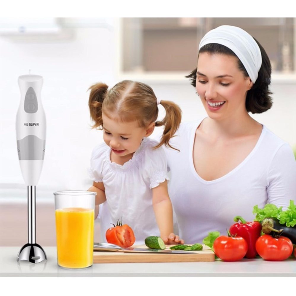 HG Double Speed Mini Hand Blender Mixer Stainless Steel Chopper Juicer