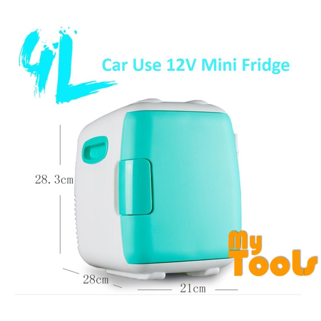 240V AV / 12V DC 4L Mini Portable Cooler & Warmer Fridge + Refrigerator ( Blue )