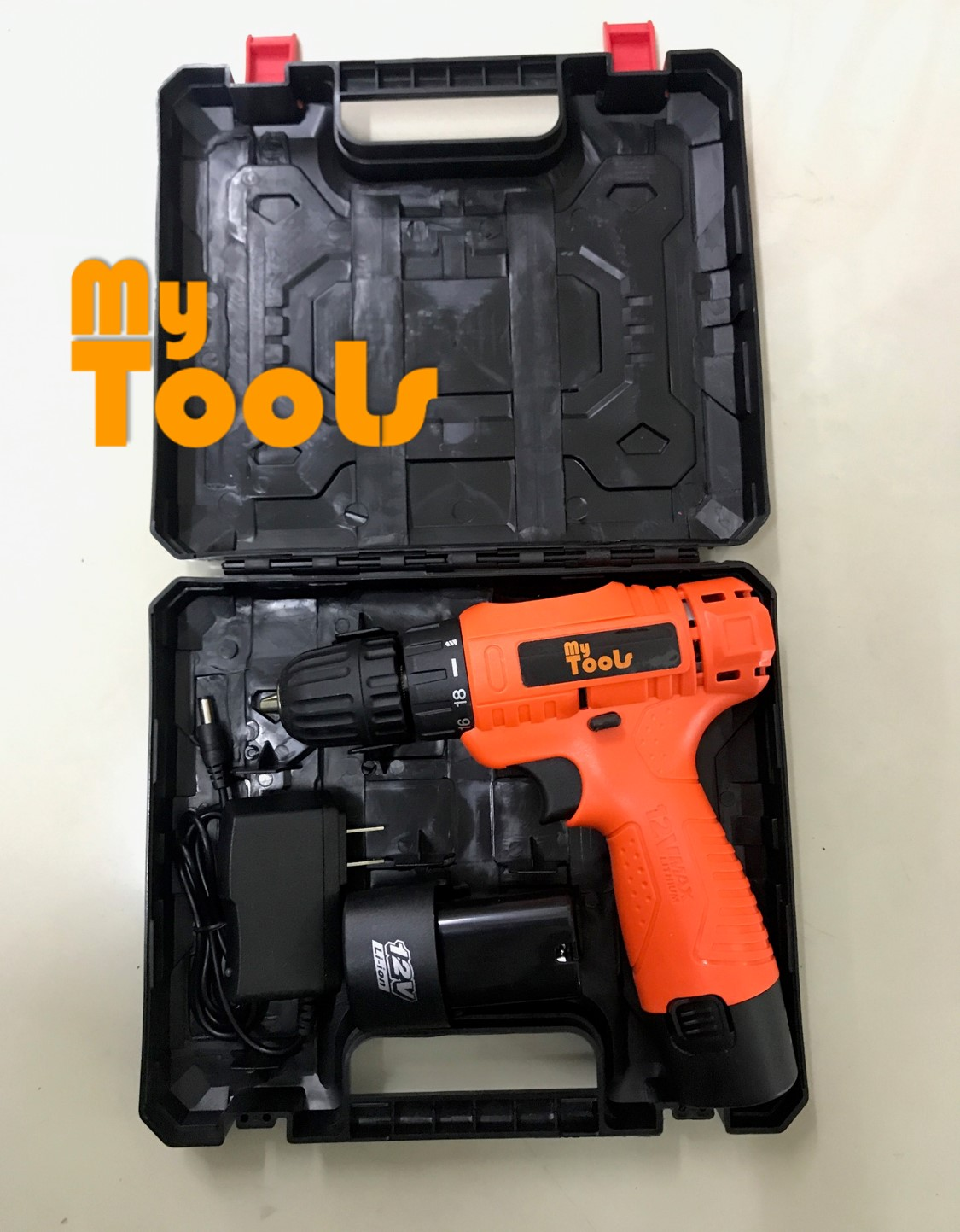 MyTools 12V Li-ion Cordless Rechargeable Electric Power Tool Drill c/w Double Battery