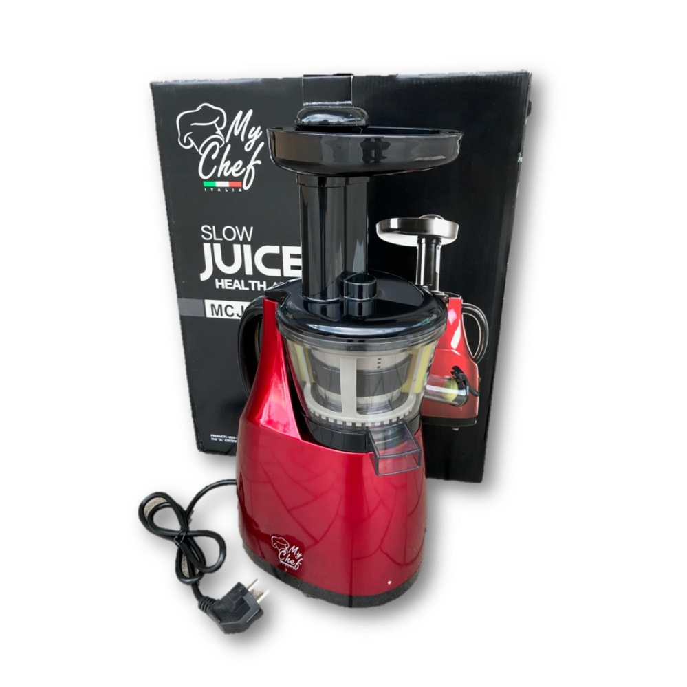 MyChef Italia MCJ-1 Fully Automatic Slow Juicer Stainless Steel Juice Extractor