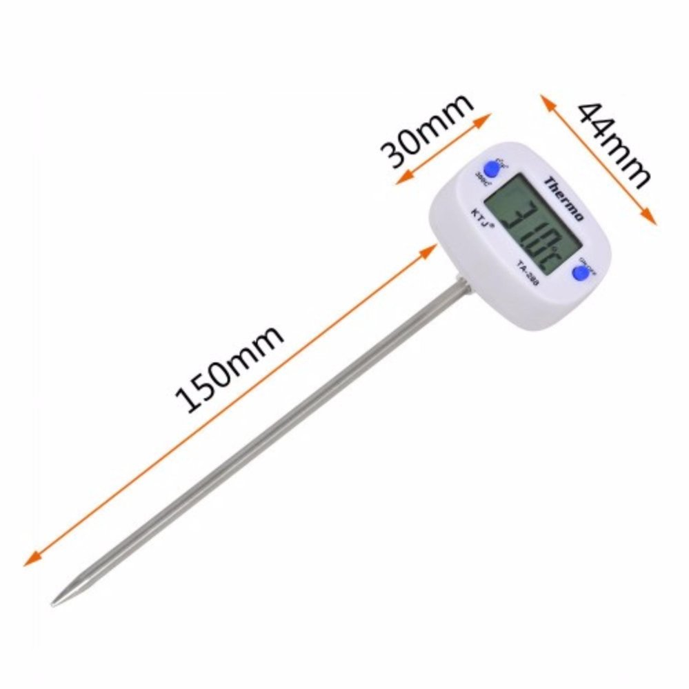 Food pen thermometer probe type electronic digital display liquid barbecue baking oil temperature m